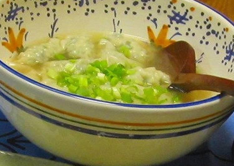 Delicious Gyoza Dumplings in Soup