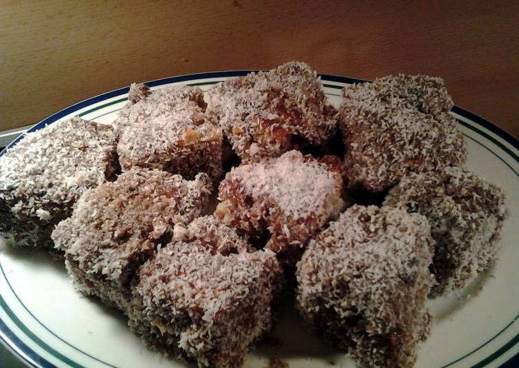 Step-by-Step Guide to Prepare Speedy Lamington Cake  Recipe by post from Australia, Emily For coco lovers!