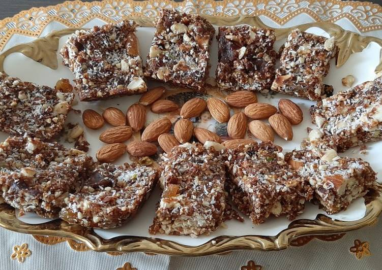 Delightful dessert-Dryfruit barfi (without sugar)
