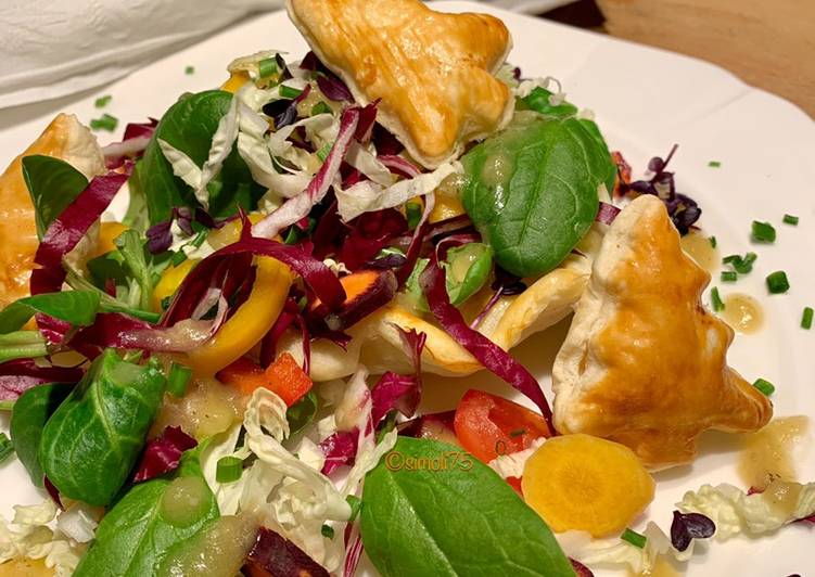Wintersalat mit Kartoffeldressing