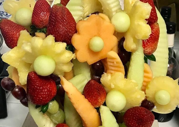Fruit flower vase