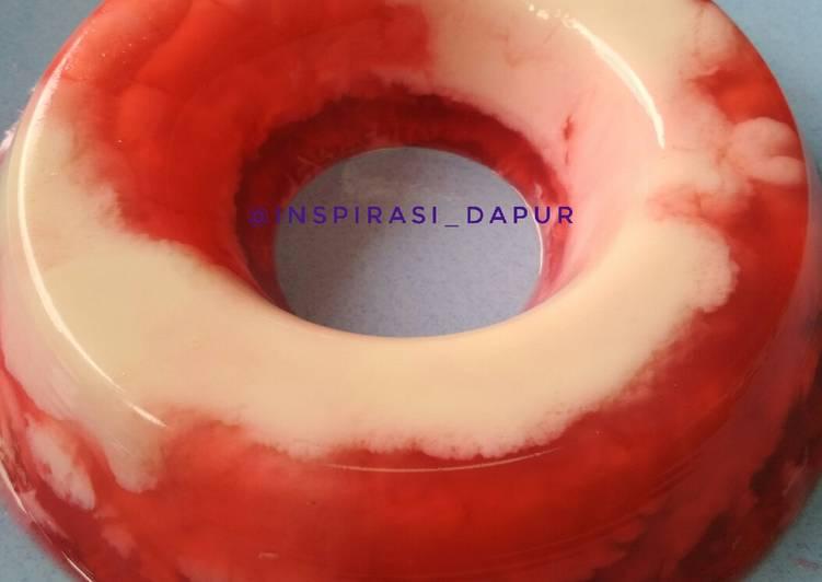 Pudding merah putih