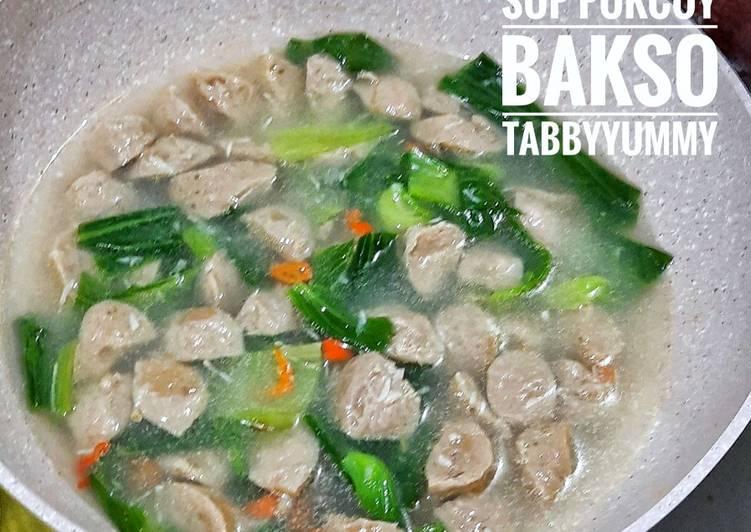 Sup pokcoy bakso