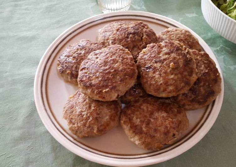 Frikadele/meatballs from Germany traditional kitchen