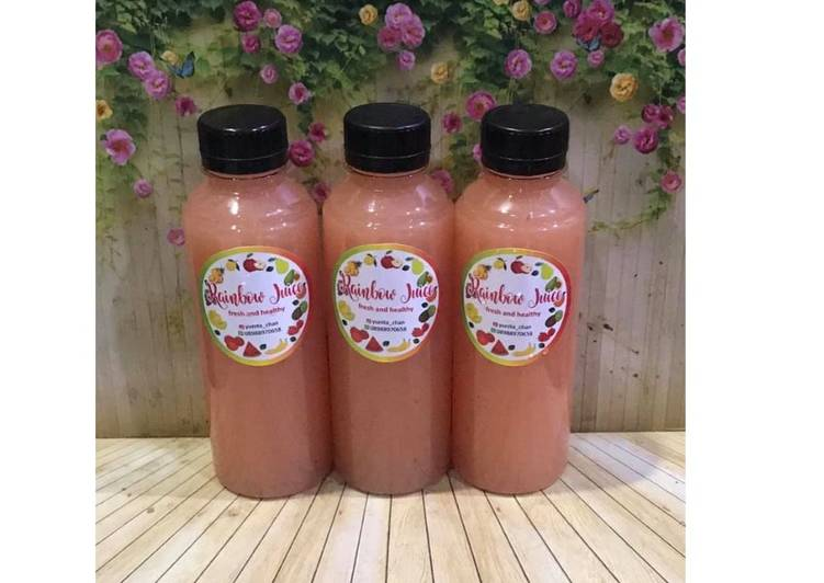 Diet Juice Pear Passion Fruit Grape Red Plum