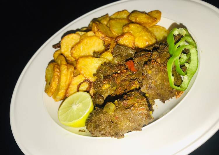 Easy Comfort Dinner Ideas Winter Chips and grilled liver sauce🔥