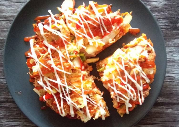 Resepi: Pizza Roti Gardenia Versi Air Fryer (Makanan Dalam Tin) Simple