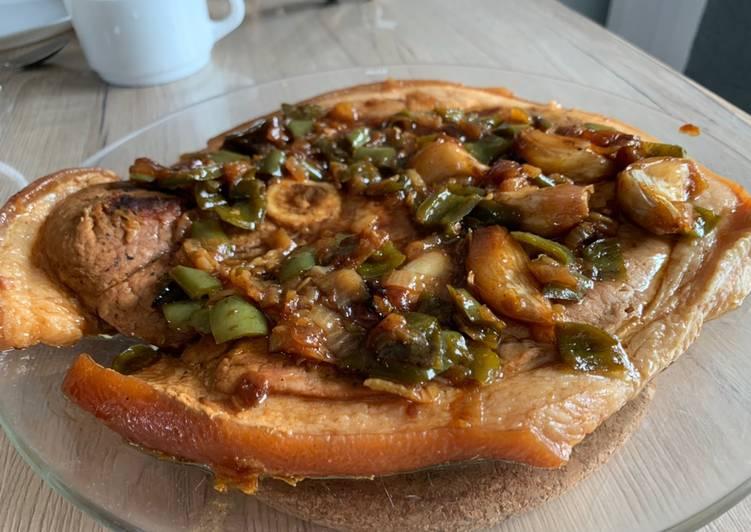 Recettes Rouelle de porc poêlée et confite