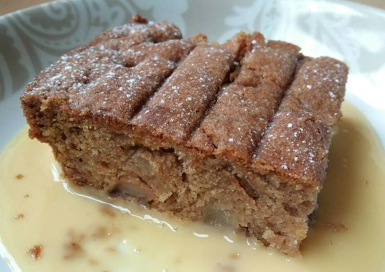 Vickys Spiced Pear Cake, GF DF EF SF NF