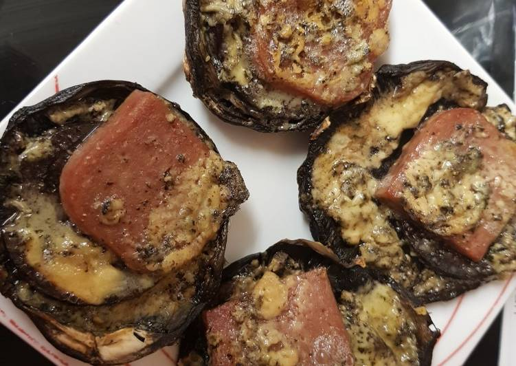 Step-by-Step Guide to Prepare Perfect New year's Eve packed Portobello Mushrooms Lunch.😁