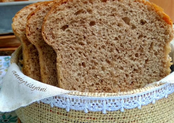 Cara Gampang Membuat Roti tawar coklat dgn metode Autolisis/Autolyse yang Enak