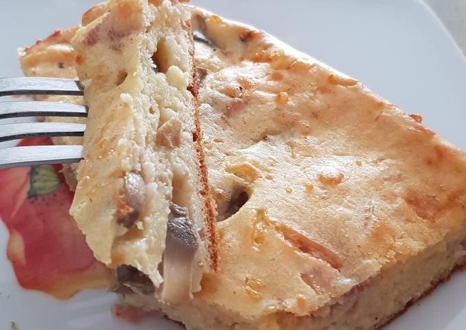 Cakiche jambon champignons