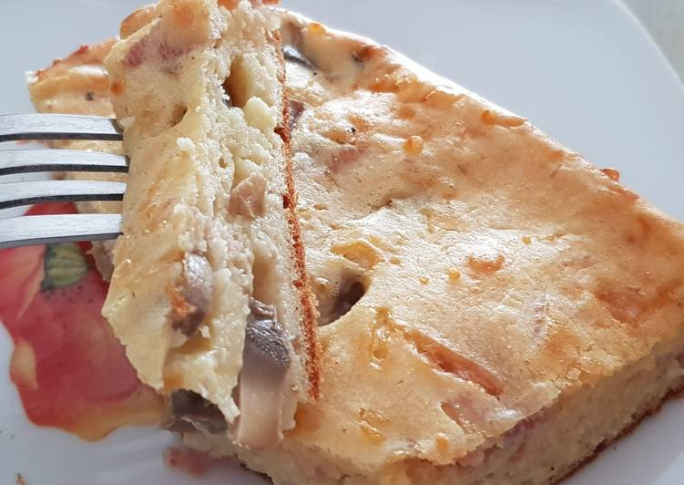 Le moyen le plus simple de Préparer Délicieuse Cakiche jambon champignons