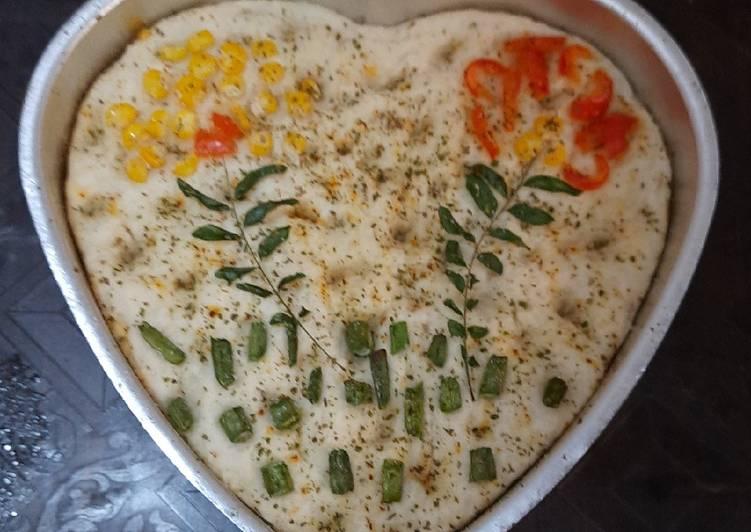#GA4 Garden Focaccia Bread (Italian bread)