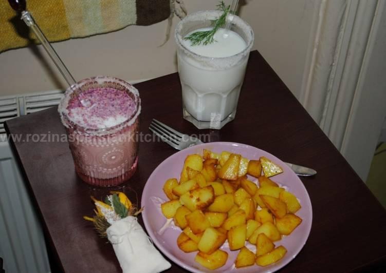Doogh A Persian Yogurt Drink (Ayran) دوغ- آیران