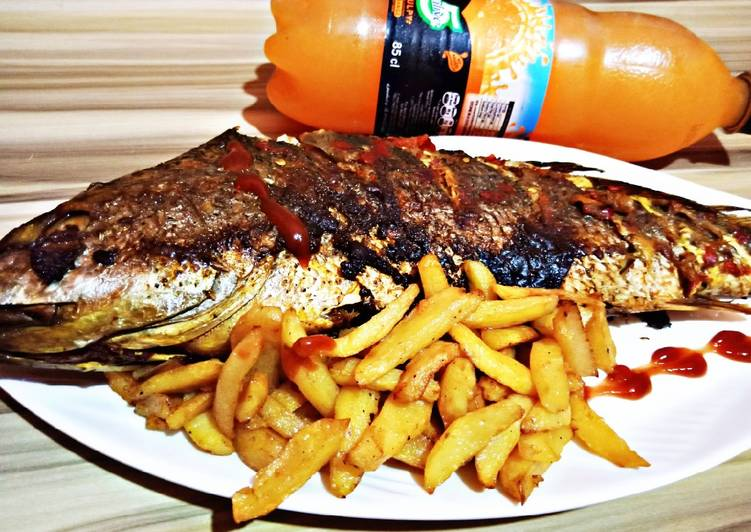 Recipe of Perfect Grilled croaker fish