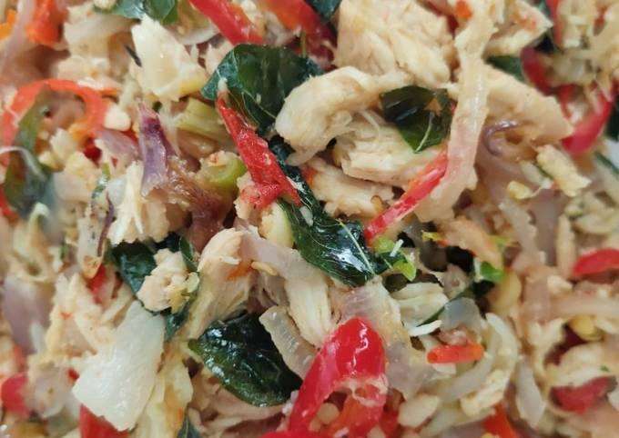 Resepi Ayam Sambal Matah Daun Kari