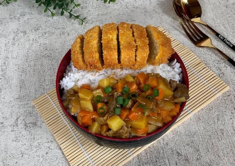 Tofu Katsu With Beef Curry