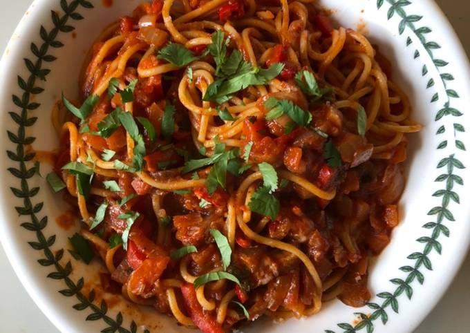 Spaghetti alle verdure assortite
