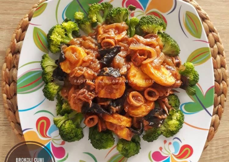 Brokoli Cumi & Tofu Saus Tiram