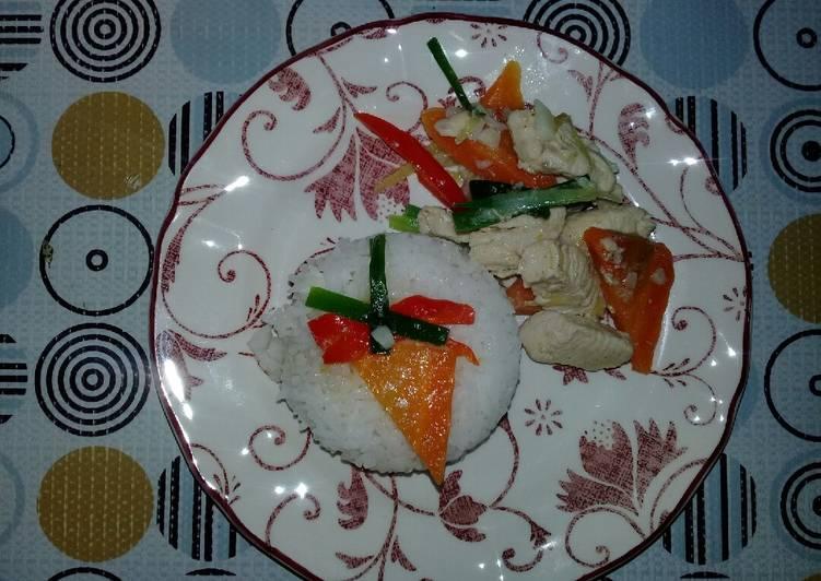 Nasi Ayam 3 warna - velavinkabakery.com