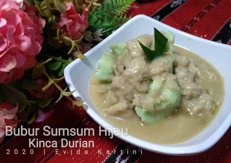 Bubur Sumsum Hijau Kinca Durian