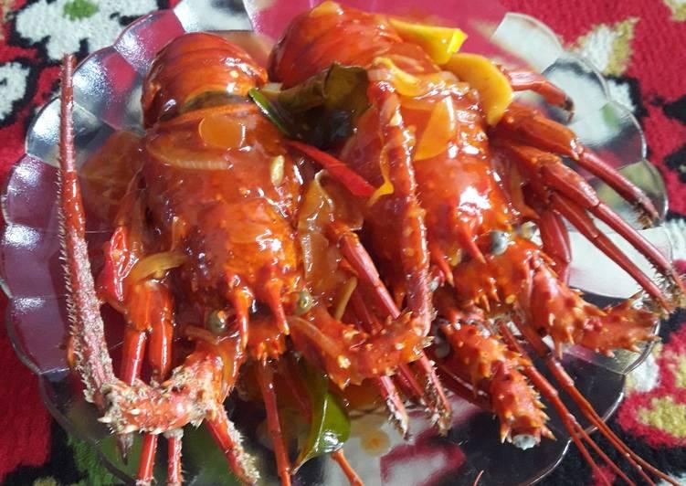 Resep Lobster asam pedas Spesial