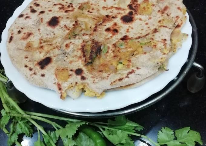 Boiled Chana Dal & Onion Paratha