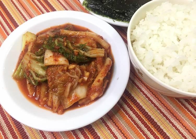 Recipe of Super Quick Homemade Homemade Kimchi