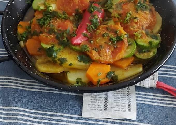 Tagine de légumes a la marocaine