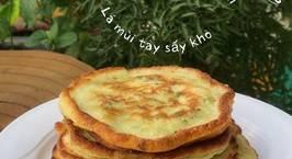 Hình ảnh món Bánh rán hay bánh pancake đậu hà lan phomai mix lá mùi tây