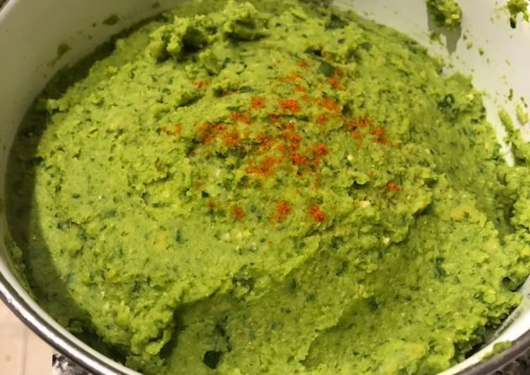 Hummus de garbanzo y espinaca