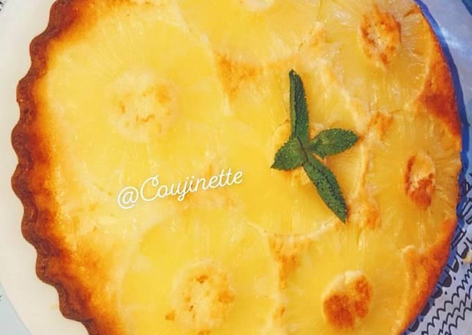 Gâteau renversé à l'ananas 🍍 Simple rapide et délicieux