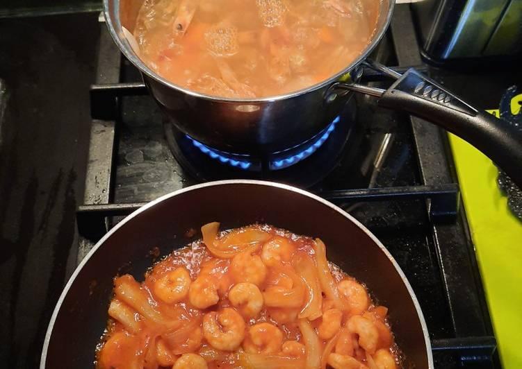 Udang asam manis + kaldu udang - cookandrecipe.com