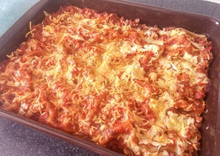 Lasagnes aux PST (protéine de soja texturé) (vegan)