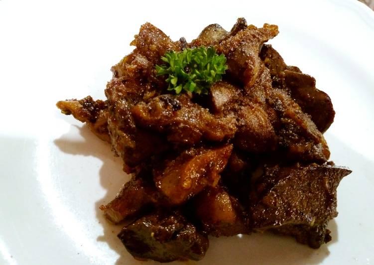 Gongso Hati dan Ampela Ayam