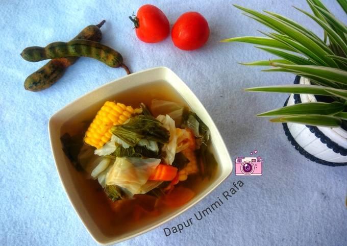 Sayur Asem Kuah Bening nan Praktis (Bumbu Iris)