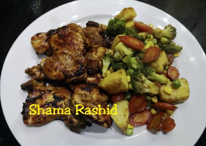 Chicken steak & stir fry vegetables