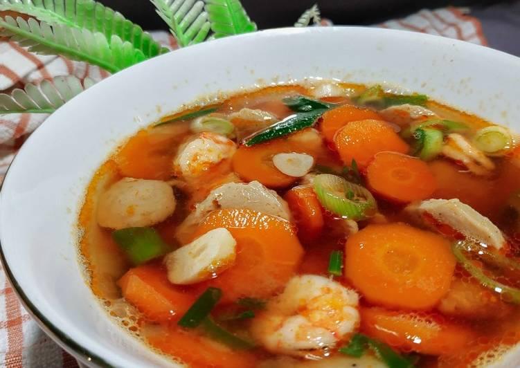 Cara Gampang Memasak Lezat Sup Udang Bakso Wortel Resep Masakan Dirumah Sehari Hari