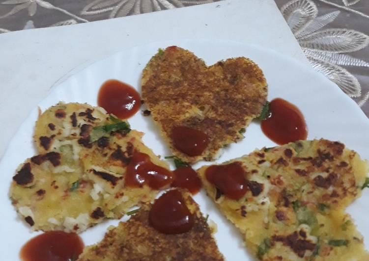 Mix veggies paneer pancake