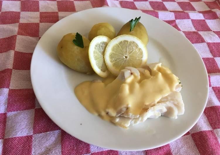 Dos de Cabillaud, sauce beurre au citron