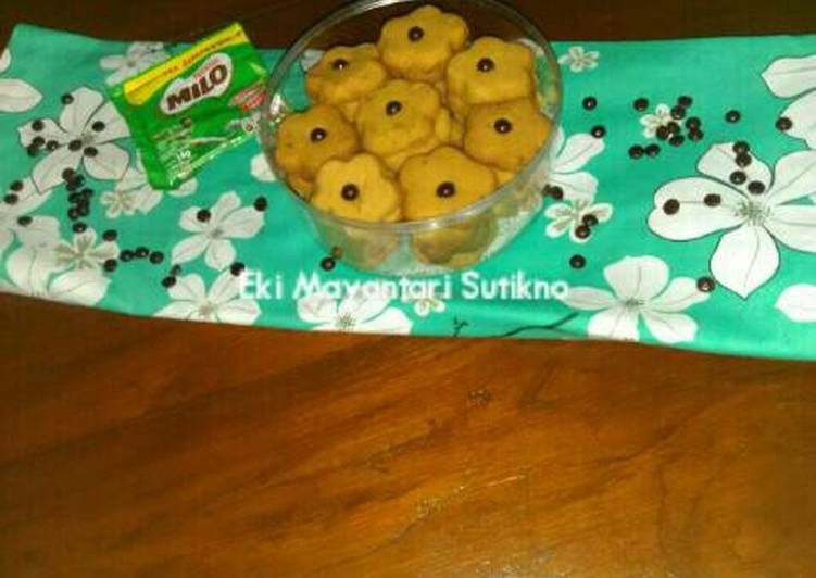 Milo Cookies 4 Bahan (Tanpa Telur Tanpa Mixer)