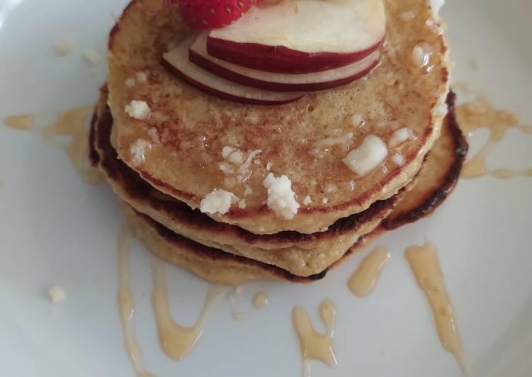 Pancake apel simpel bergizi (takaran sendok)