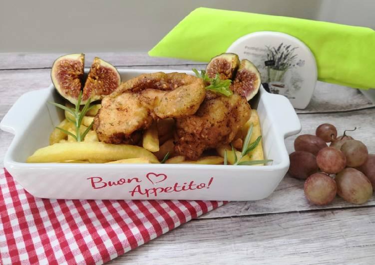 Gluténmentes csirkemell falatkák tempura bundában recept foto