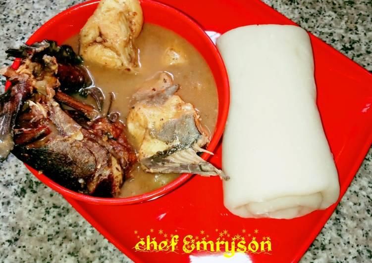 Nsala soup and akpu 😋😋