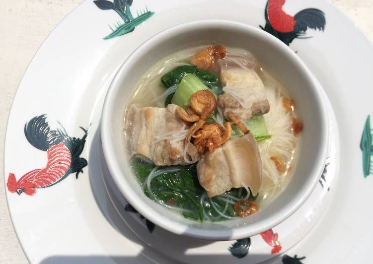 Recipe: Yummy Vermicelli In Pork Belly Soup