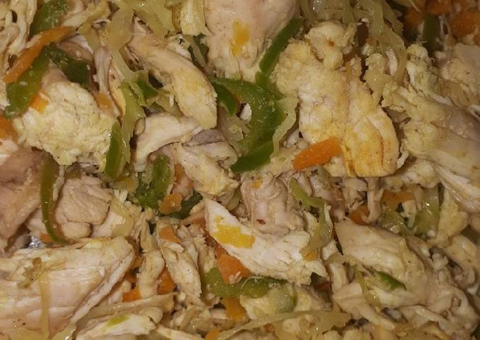 Spring roll filling (Chicken & veggies)