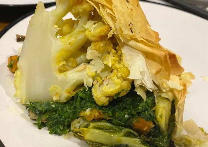 Cauliflower Filo Pie