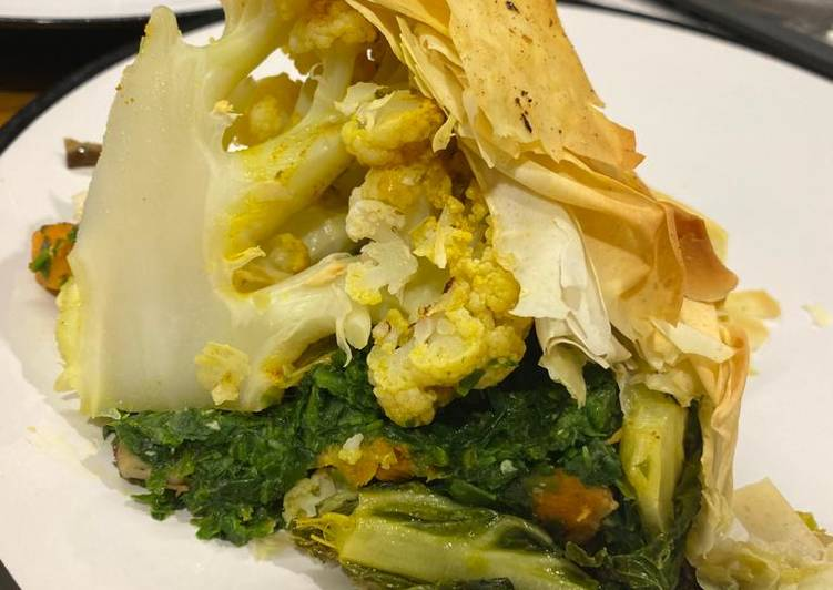 Recipe: Delicious Cauliflower Filo Pie