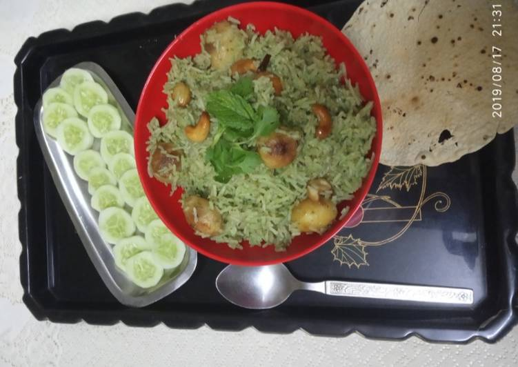Old Fashioned Dinner Easy Cooking Aloo chutney pulav